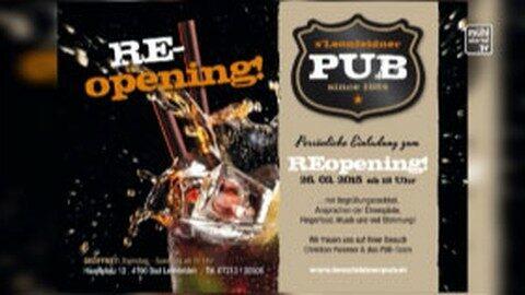 Ankündigung: Wiedereröffnung Leonfeldner Pub in Bad Leonfelden