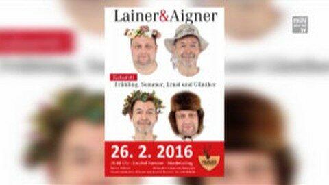 Ankündigung Kabarett Lainer und Aigner im GH Pammer