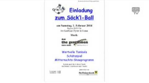 Ankündigung Söckl-Ball in Gutau