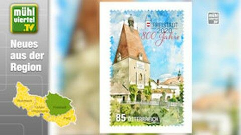 Sonderbriefmarke zum Stadtjubiläum Freistadt