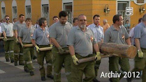 Rückblick: Maibaumaufstellen in Perg 2012