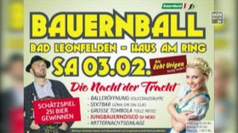 Ankündigung Bauernball Bad Leonfelden 2018