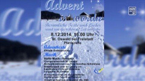 """Ankündigung Vorweihnachtsveranstaltung """"Advent is worn"""" in St. Oswald"""