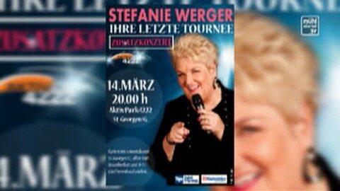 Ankündigung Stefanie Werger mit Kartenverlosung