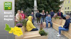 Neuer Begegnungsort vor dem PROGES-Gesundheitsbüro in Haslach an der Mühl