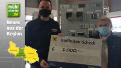 Sommer GmbH aus Walding spendet 1.000 Euro an Tiergarten