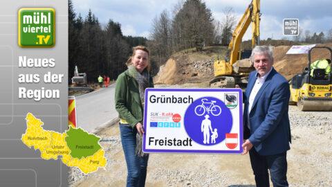 Neuer Radweg verbindet die Gemeinden Freistadt und Grünbach