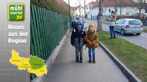 """Aktion der VS 2 Freistadt: """"Zu Fuß in die Schule"""""""
