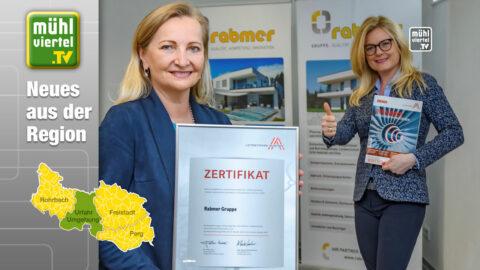 Rabmer Gruppe erstmals als österreichischer Leitbetrieb zertifiziert