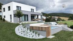 Terrassen- und Poolabdeckung aus Grein