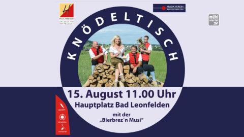 Knödltisch in Bad Leonfelden am 15.8.2021