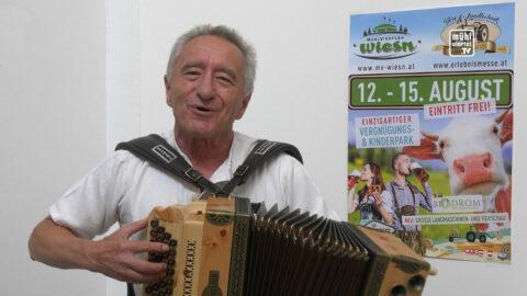 """""""Wetter-G'Stanzl"""" mit Hans Gessl auf der Freistädter Messe 2021"""