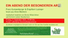 Stelzhamerbund Bezirk Perg – Abend der besonderen Art am 3.9.2021