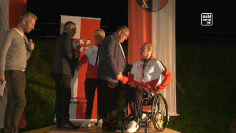 Empfang von Paralympics-Silbermedaillengewinner Florian Brungraber in Lasberg
