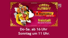 Zirkus Althoff im Mühlviertel 2021