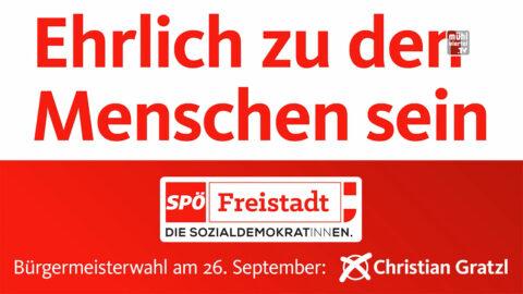 SPÖ Bürgermeisterkandidat Christian Gratzl für Freistadt