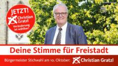Bürgermeisterkandidat Christian Gratzl für Freistadt