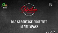 """Eröffnung neues Lokal beim Aktivpark 4222 – """"Saboutage"""" am 8.10.2021"""