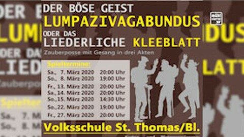 Ankündigung Theater in St. Thomas am Blasenstein 2020: Lumpazivagabundus
