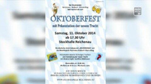 Ankündigung Oktoberfest in Reichenau 2014