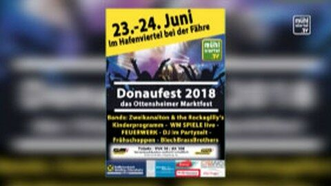 Ankündigung Donaufest in Ottensheim 2018