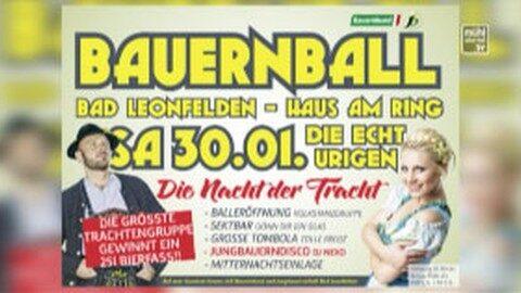Ankündigung Bauernball in Bad Leonfelden 2016