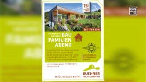 Ankündigung Baufamilienabend bei Buchner