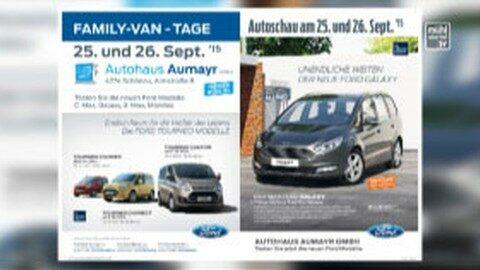 Ankündigung Ford Family-Van-Tage im Autohaus Aumayr in Schönau
