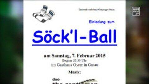 Ankündigung Söckelball in Gutau am 7. 2. 2015