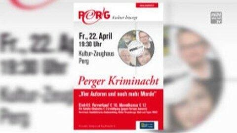 """Ankündigung Perger Kriminacht """"Vier Autoren und noch mehr Morde"""""""