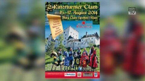 Ankündigung Ritterfest Burg Clam