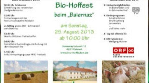 Ankündigung Bio-Hoffest beim Baiernaz in Summerau