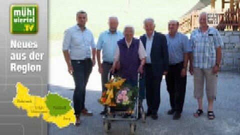 Dr. Josef Pühringer gratulierte Hermine Wurm zum 101. Geburtstag