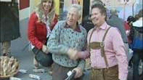 TOP-Biathleten  zu Gast bei der Bäckerei Müller in Aigen