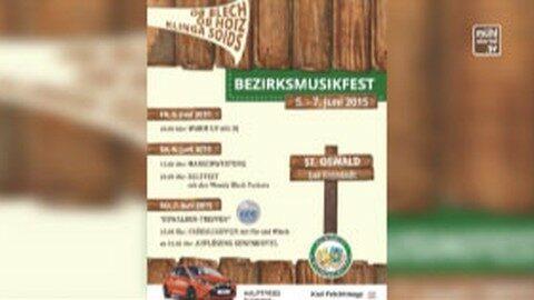 Ankündigung: Bezirksmusikfest in St. Oswald bei Freistadt