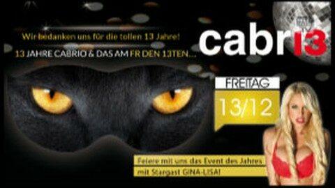 Ankündigung 13 Jahre Cabrio mit Gina Lisa