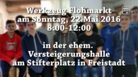 Ankündigung Flohmarkt in der ÖTB Halle Freistadt