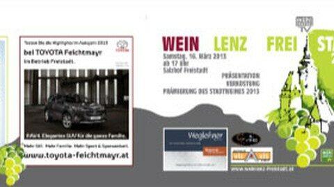 Ankündigung: Weinlenz Freistadt 2013