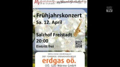 Ankündigung Frühjahrskonzert der Stadtkapelle Freistadt