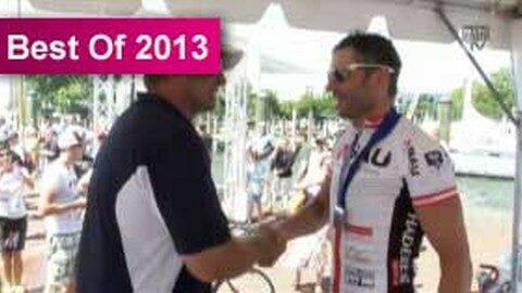 Zieleinfahrt von Franz Wintersberger beim Race across America