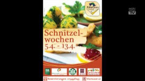 Ankündigung Schnitzelwochen im GH Blumauer in Rainbach