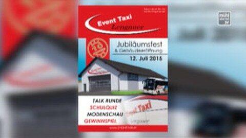 Ankündigung Event Taxi – Jubiläumsfest mit Gebäudeeröffnung