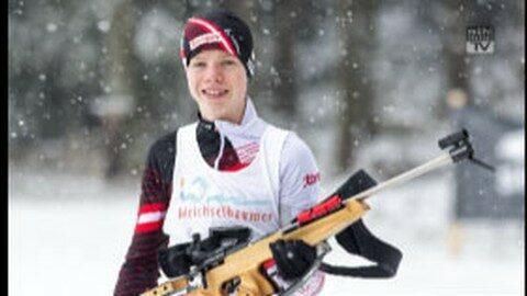 Biathlon Austriacup: Ruckendorfer Jakob vorne
