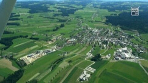Overflight for overview in Hirschbach
