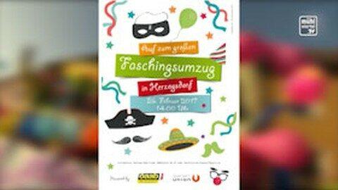 Ankündigung Faschingsumzug in Herzogsdorf