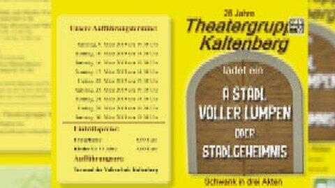 "Ankündigung Theater Kaltenberg 2019: ""A Stadl voller Lumpen oder Stadlgeheimnis"""