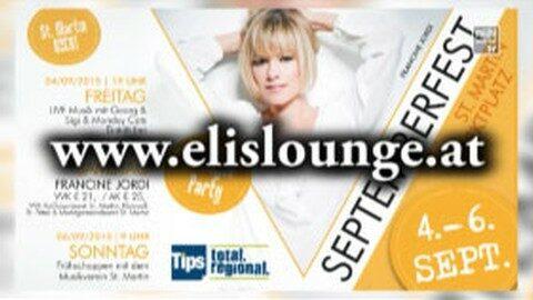 Ankündigung Elis Lounge Septemberfest in St. Martin