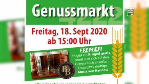 Ankündigung Genussmarkt am 18.9.2020 in St. Georgen an der Gusen