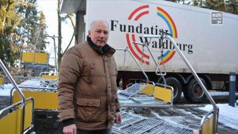 180 Pflegebetten und 54 PCs vom LKH Freistadt für rumänische Spitäler