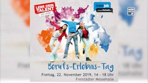 Ankündigung Berufsinfotag in der Messehalle Freistadt